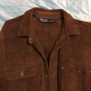 I have a Ralph Lauren suede leather top